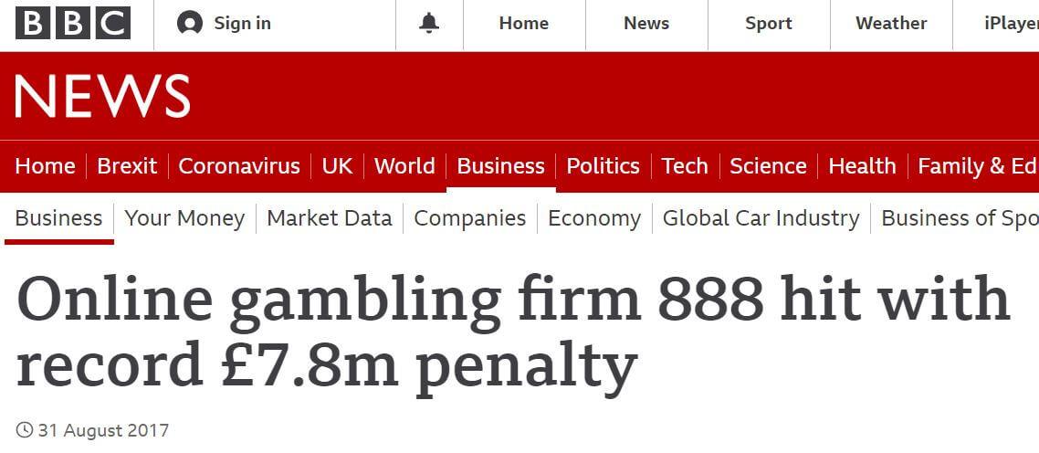 888's record fine in 2017