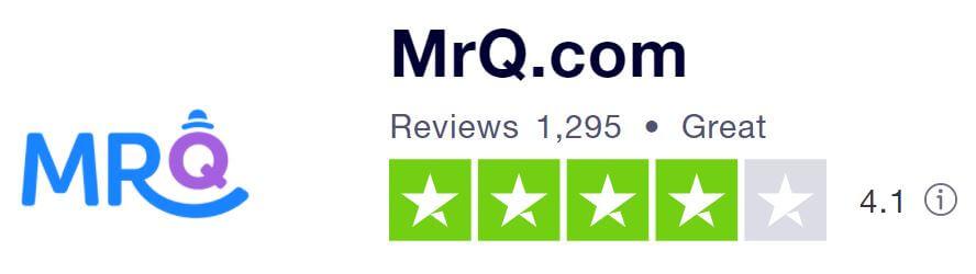 MrQ's Trustpilot score