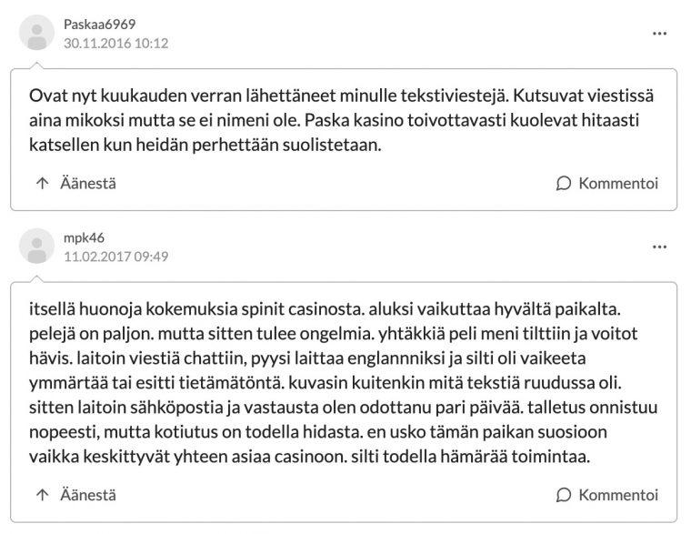 SpinIt kokemuksia Suomi24
