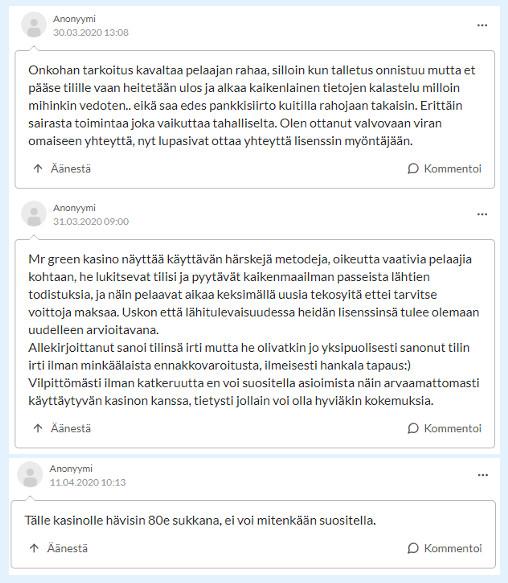 mr green kokemuksia suomi24