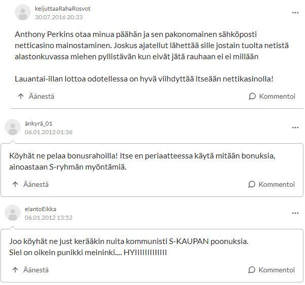 casinohuone kokemuksia suomi24