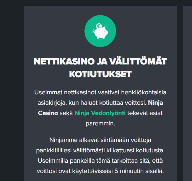 Nettikasinot ilman kirjautumista kotiutukset